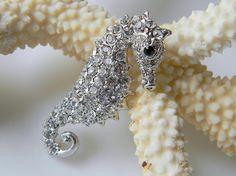 Crystal Swarovski Sea Horse Hair Clip