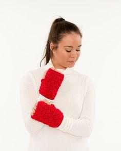 Chunky Crochet VEGAN Fingerless Gloves Knit by BrennaAnnHandmade
