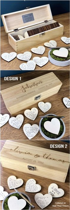 Wedding Guest Book – Guest Book Alternatives – Guest Book Sign – Personalized Custom Guest Book – Rustic Wedding Box – Hearts – Unique Ideas – Source by Wedding Welcome Signs, Wedding Signs, Diy Wedding, Trendy Wedding, Wedding Ideas, Wedding Ceremony, Fall Wedding, Post Wedding, Wedding Unique