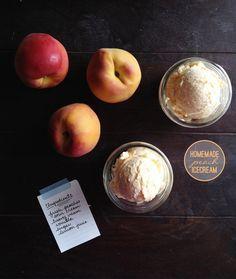 Home-made peach icecream