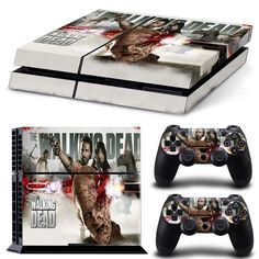 ZoomHit Playstation 4 Console Skin Decal Sticker The Walking Dead Design 2 Controller Skins Set, Playstation 4 Bundle, Playstation Consoles, Geek Games, Ps4 Games, The Walking Dead Merchandise, Playstation 4 Accessories, Mmorpg Games, Gamer Setup, Ps4 Skins