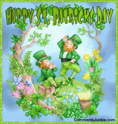 Patrick's Day is celebrated on March on the day of St. Patrick's death. Day filled with parades, shamrocks, Blarney Stone, and green colored beer.