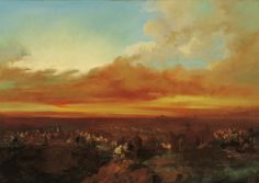 Caravanas árabes arribando a la costa, ca. 1860 - Eugenio Lucas Velázquez (Spanish, 1817-1870)