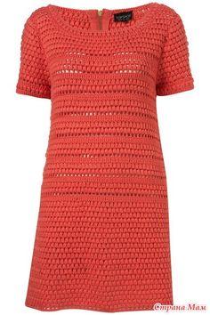 Красное платье крючком, понравилось, делюсь!