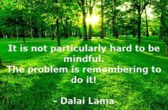 Mindfulness is really simple, so simple that we forget to do it!