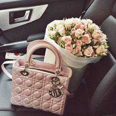 fashion, flowers, and bag image