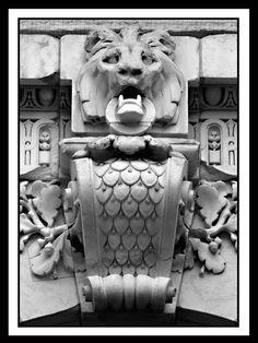 Detail at the Steven A. Schwarzman Building. A lion gargoyle!