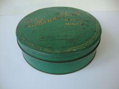 Vintage KATHERINE BEECHER: Butter Mints, Candy tin / container, Pennsylvania #KATHERINEBEECHER