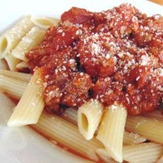 """Tami's Red Sauce: Bolognese Tomato Sauce with Ground Beef 
