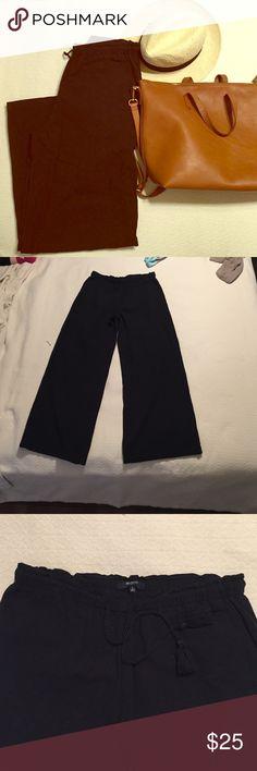 Madewell Linen Pants Like new. Soft linen. Elastic waistband with tassel tie. These run big. Madewell Pants