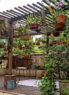 d coration en trompe l 39 oeil d 39 un mur en fibrociment imitation bois jardin pinterest. Black Bedroom Furniture Sets. Home Design Ideas