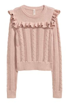 Sweter z falbaną | H&M