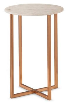 A side table accented with gorgeous copper and marble will make your place look on point.Threshold Copper Accent Table. $67.99, available at Target. #refinery29 http://www.refinery29.com/target-home-decor#slide-10