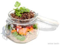 Rezept Bulgursalat mit Hackfleisch im Glas - lekker.berlin | Rezepte und mehr ... Food-Blog, Backen, Kochen, Drinks - Viel Spaß beim Lesen und Ausprobieren.