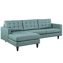 Empress Left-Facing Upholstered Sectional Sofa Empress Left-Facing Upholstered Sectional Sofa in Laguna