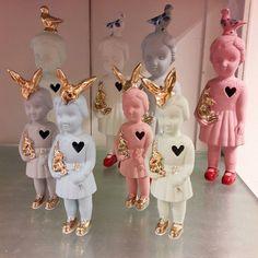 Juffrouw Saartje, cadeau winkel, Gouda #lammersenlammers #lammersenlammerspopjes #ceramicdolls #handmade