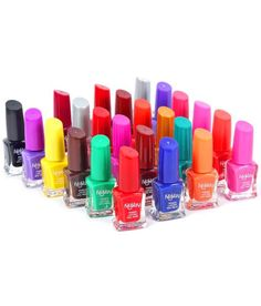 Foolzy Pack of 24 Nail Polish at Rs. 449 Off) From Snapdeal Nail Polish Kits, Love Nails, Nail Arts, Art Supplies, Packing, Chocolate, Orange, Purple, Red