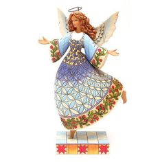 The Collectors Hub - Jim Shore Angel Figurine on Pointed Toe, $34.95 (http://www.thecollectorshub.com/jim-shore-angel-figurine-on-pointed-toe/)