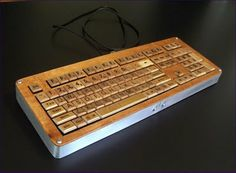 Scrabble keyboard. So totally awesome.