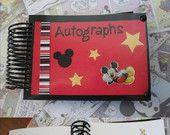 Custom Disney Autograph Book. $12.00, via Etsy.