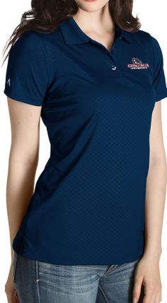 Antigua Women s Gonzaga Bulldogs Blue Inspire Performance Polo ef0ee3d8a