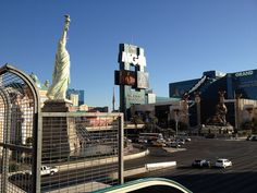Vegas!  Picture taken on bridge between Excalibur and New York New York.