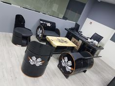 Office Furniture - Recycled Oild Drums - Drum Furniture