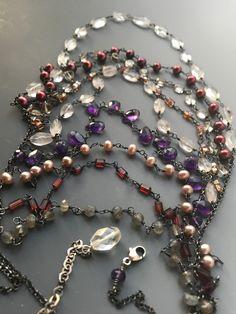 9 strand gemstone necklace by ISAJUL Jewelry
