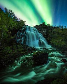 On instagram by tommyeliassen  #astrophotography #metsuke (o)  http://ift.tt/1JJJuZB  Nightfall II  One of my personal favorites from 2015. Location: Melfjorden Nordland Norway  @auroraskycam #Helgeland #northernlights #auroraborealis #nightphotography #nordnorge #waterfall #naturalwonders #spaceattraction #naturevisuals #nightscape #universetoday #awsome_earthpix #thegreatoutdoors #goneoutdoors #earthofficial #wow_planet #norsketurbilder