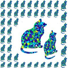 Crazy Cat Kittens Family Pattern Navinjoshi Artist Created Images Textures Patterns Background Desig