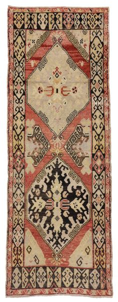 Antique Turkish Oushak Runner with Modern Traditional Style   From a unique collection of antique and modern turkish rugs at https://www.1stdibs.com/furniture/rugs-carpets/turkish-rugs/