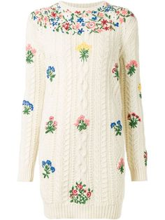 Shop Valentino 'Primavera' cable knit dress in Kirna Zabête from the world's best independent boutiques at farfetch.com. Shop 300 boutiques at one address.