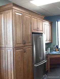 Large Kitchen Cabinets kitchen remodel featuring dayton painted linen cabinets in 1953
