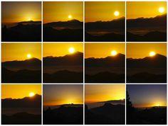 Mosaico de la secuencia de la puesta de sol desde El Mirador Degollada Becerra en Tejeda Gran Canari by El Coleccionista de Instantes . on 500px