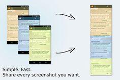 Stitch & Share: Capturas de pantalla en una sola imagen – Android