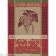 LES RAISINS NOIR (RED GRAPES) KITCHEN TOWEL(S), IDEAL W/PIERRE DEUX, NEW W/TAGS