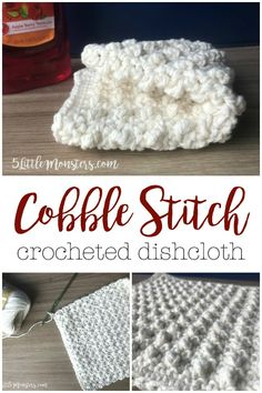 Cobble Stitch Dishcloth- Use the cobble stitch to crochet a dishcloth with a scrubby, bumpy texture.