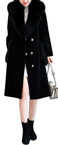 YUNY Women Overcoat Trench Coat Belted Lapel Faux Leather Jackets Black 3XL