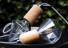 With pendants Nature Cork and Wood Led Lamp, Cork, Cufflinks, Pendants, Diamond, Accessories, Nature, Taps, Naturaleza