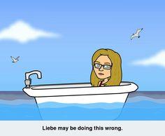 Bath in the ocean