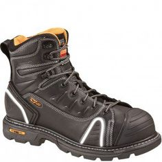 804-6444 Thorogood Men's Lace Up EH Safety Boots - Brown www.bootbay.com
