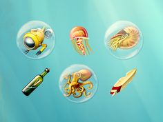Dribbble - Underwater Icon Collection by Dart 117