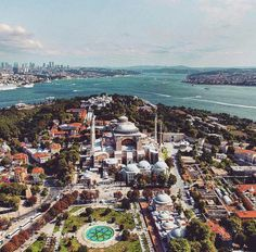 """""""It is a top view of Asia and Europe. Tag a friend you want to enjoy this view with 😄"""" Hagia Sophia, Islamic Architecture, Living Room Pictures, East Africa, Top View, Middle East, Istanbul, Paris Skyline, City Photo"""
