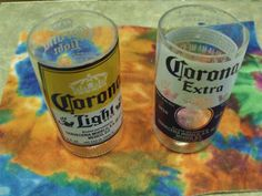 Corona Tumblers set of 2 by FireAntDesign on Etsy, $10.00