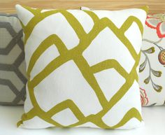 Modern abstract decorative pillow cover  by pillowflightpdx, $38.00