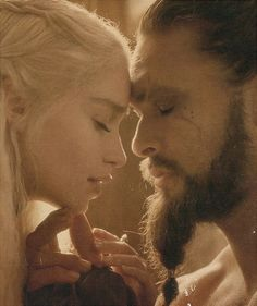 Dany + Drogo (still my favourite couple in all GoT)