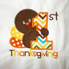 My First Thanksgiving Bodysuit First by BouquetsandGifts on Etsy