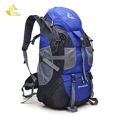 28c4b906f55 Zaino esterno da trekking impermeabile 50L zaino da arrampicata  impermeabile zaino da campeggio zaino alpinismo sport