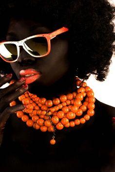 ORANGE Crush. #Orange #Sunglasses #Lips #Beads