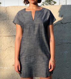 Tunic Dress - Chambray | This simple, chic dress is great for the day-to-day or to get ... | Day Dresses #dreamweekender